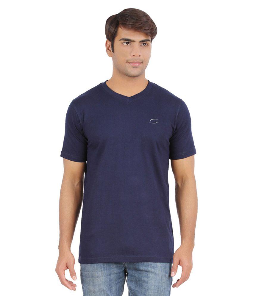 Ap'pulse Navy Cotton Sports T-Shirt