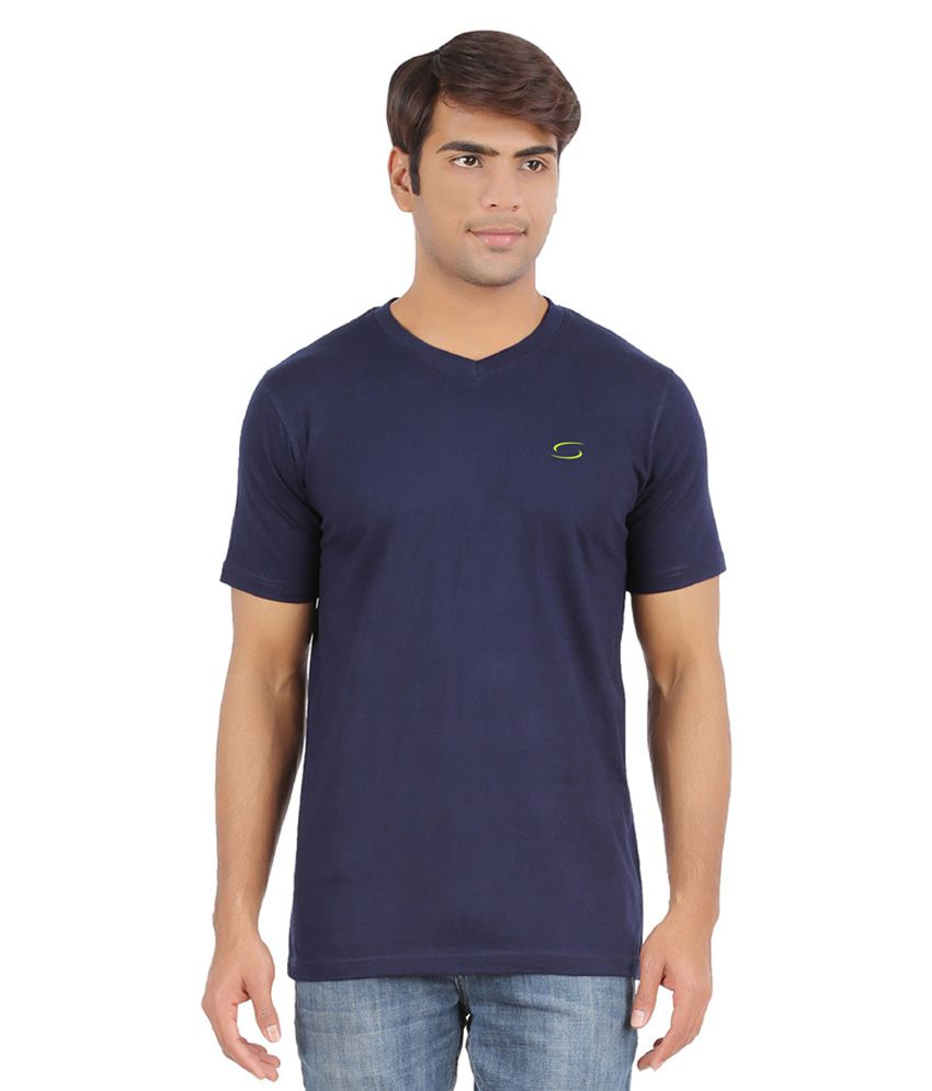 Ap'pulse Navy Cotton Sports T-Shirt