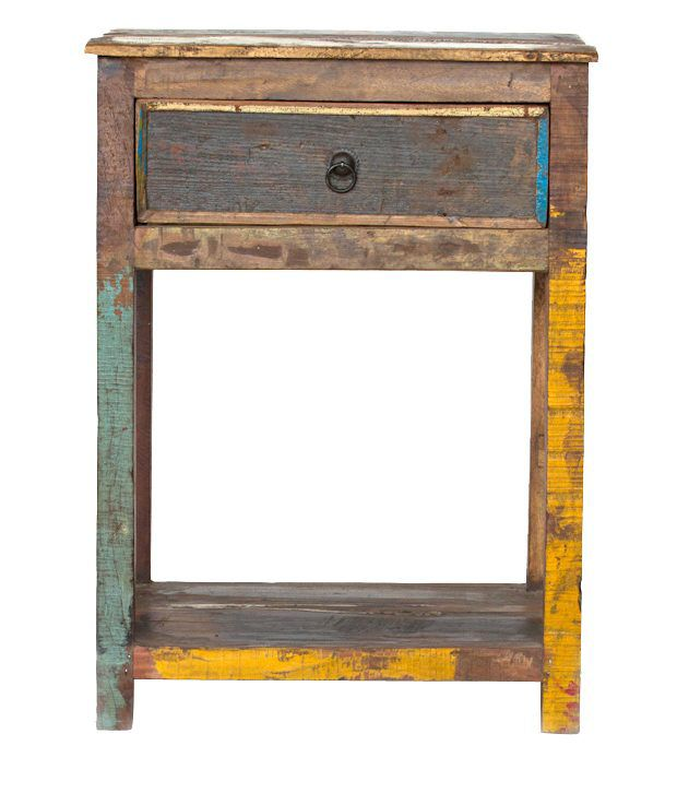 Chittorgarh Solid Wood Side Table