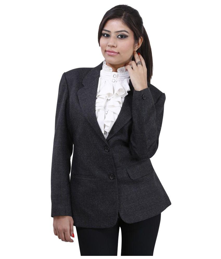 Buy Devis Black Tweed Blazers Online at Best Prices in ...