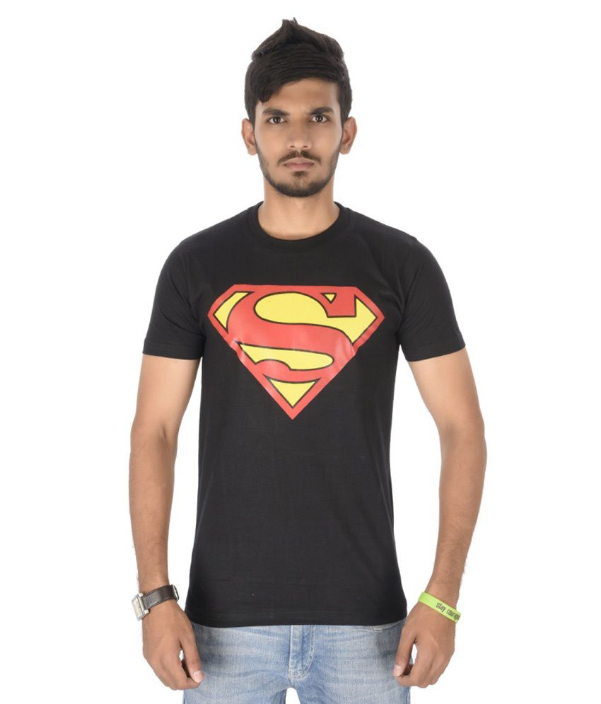 Attitude Super M-Round Neck Black T-Shirt