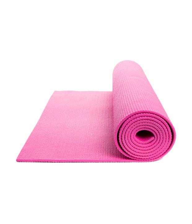 Leaflight Yoga Mat Pink 4mm Full Length Exercise Mat: Buy