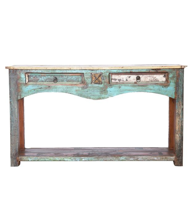 Madhopur Console Table with 2 Drawers