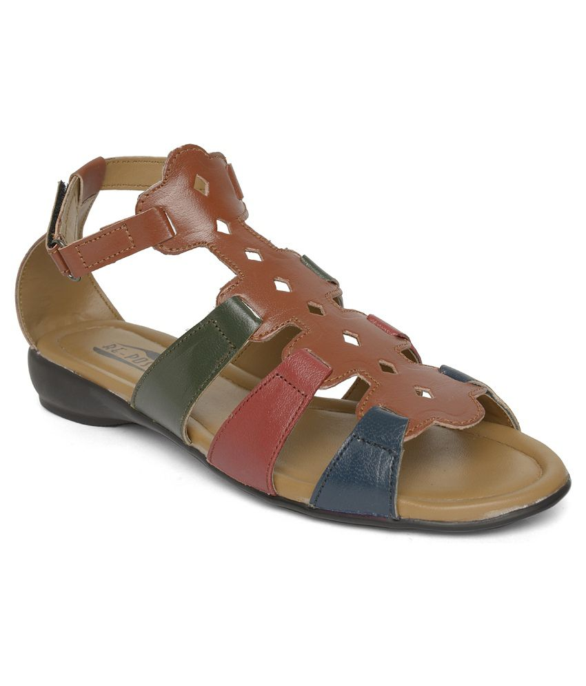 Vendoz Multi Color Flat Sandals