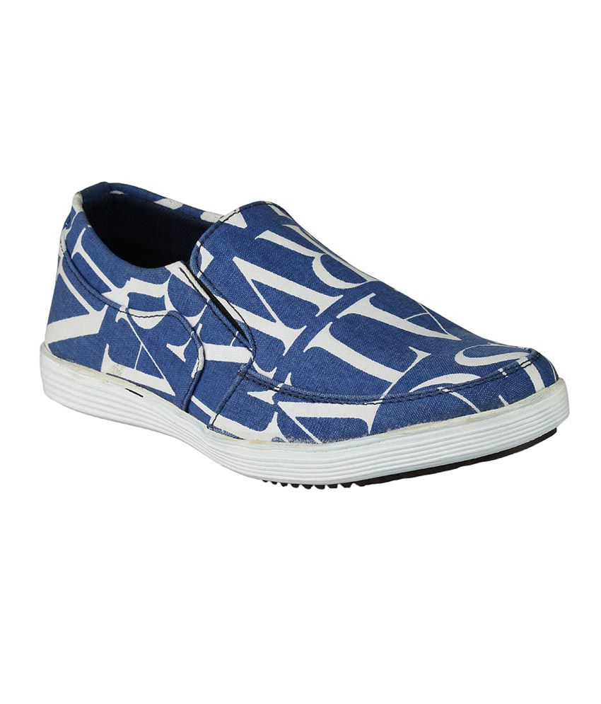 Shoe Day Blue Printed Shoes