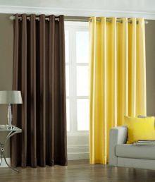 Handloom Villa Yellow And Brown Contemporary Polyester Door