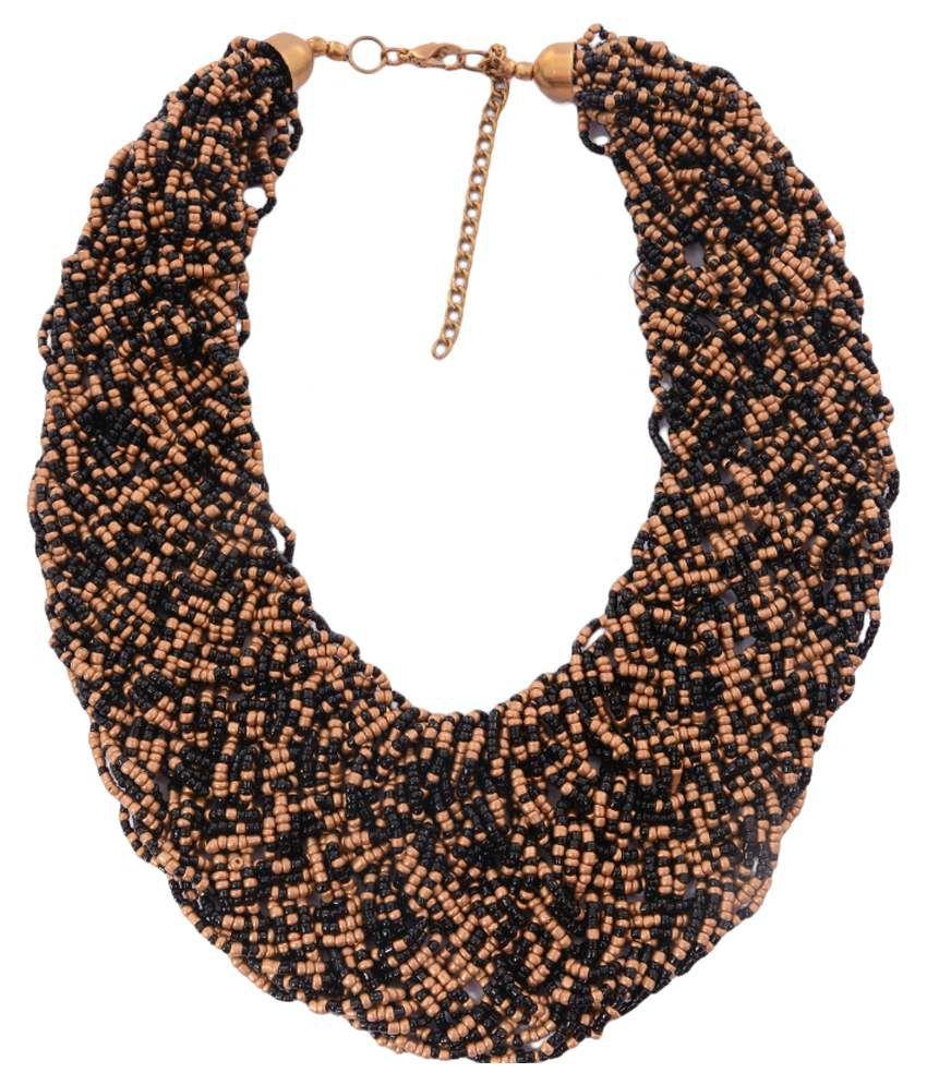 Adrika Black Others Style Diva Necklace Set