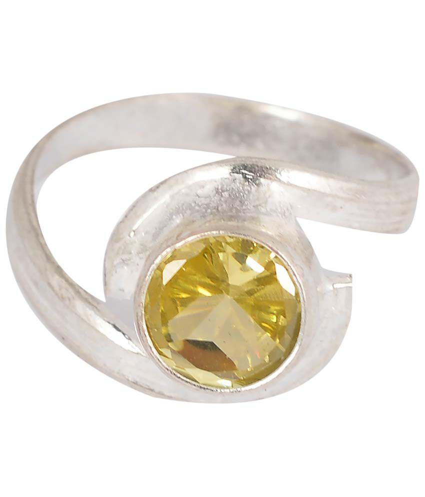 Jewelry Place Engagement Swarovski Crystal Silver Ring