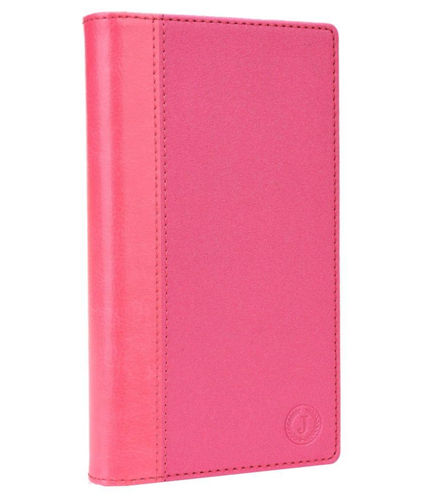 Jo Jo Cover Millar Series Leather Pouch Flip For Lava Iris 456 - Pink