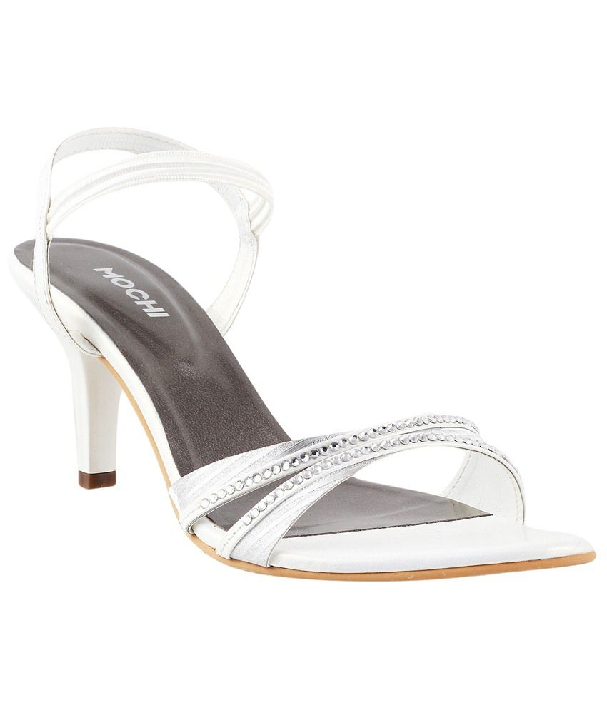 0c51ffbb198 Mochi Black & White Party Wear Heeled Sandals for Women Price in India- Buy  Mochi Black & White Party Wear Heeled Sandals for Women Online at Snapdeal
