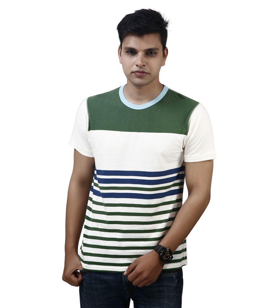 Modimania White Cotton Round Neck T-Shirt