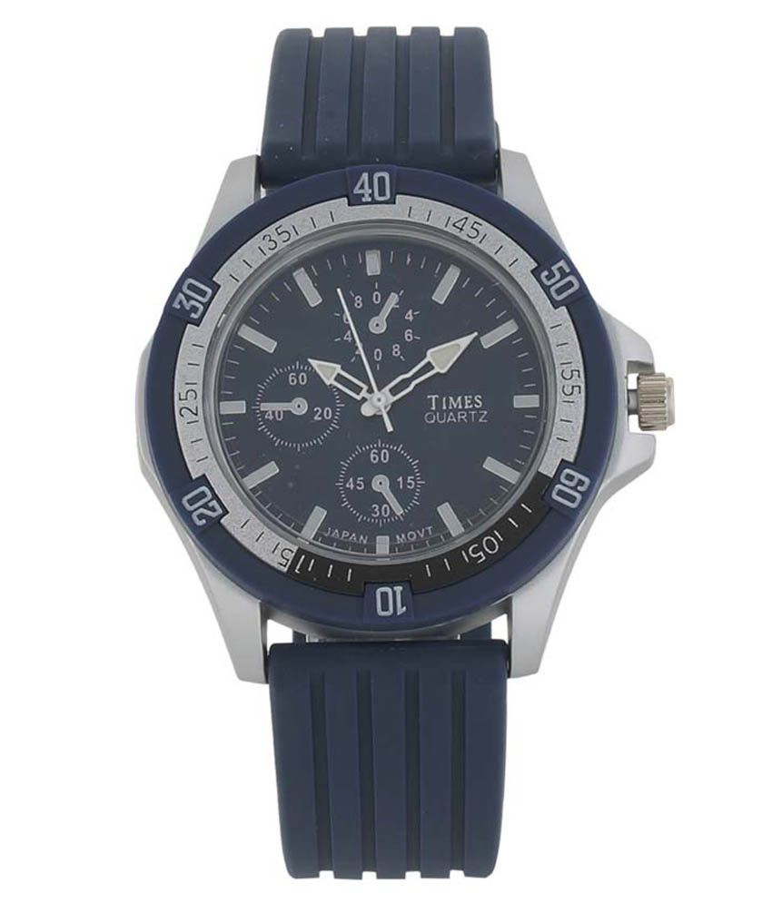 Times Causal Analog Blue Dial Watch For Boy's