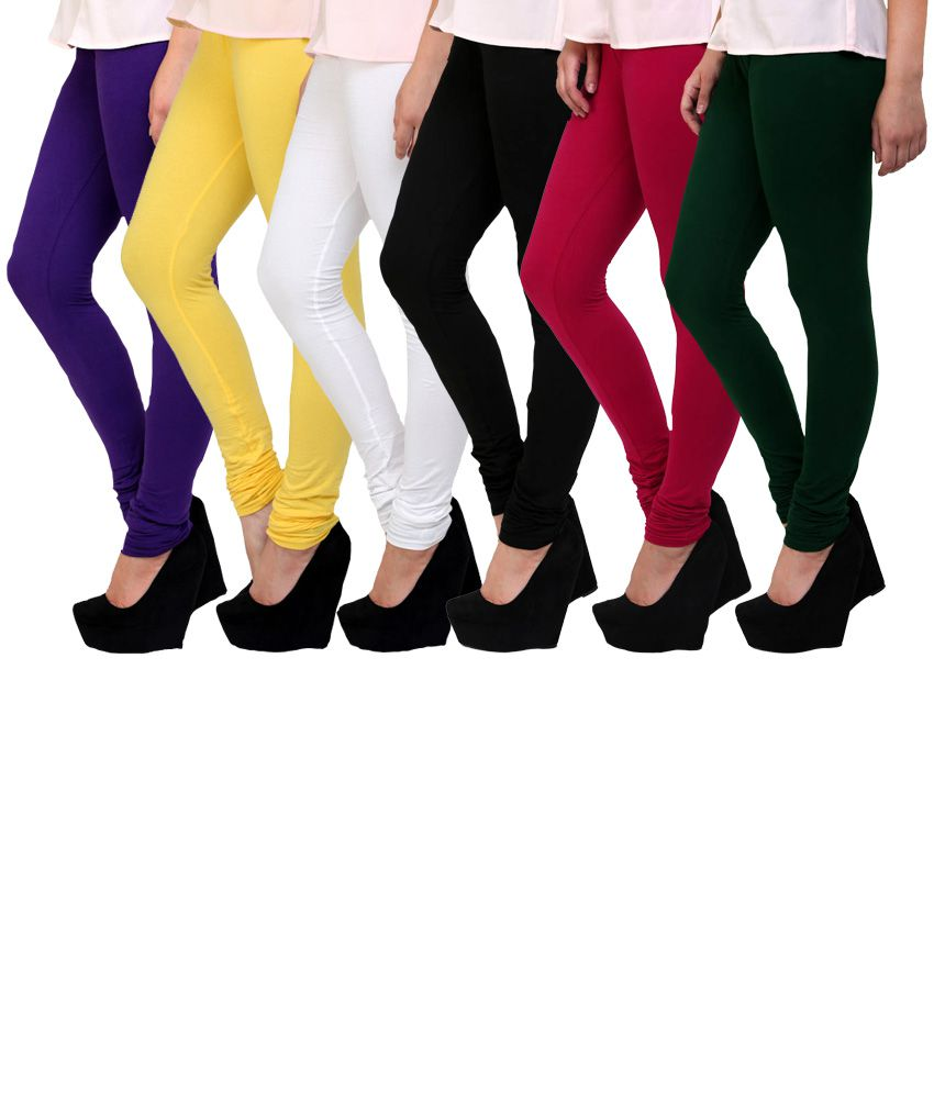 Famaya Multi Color Cotton Leggings