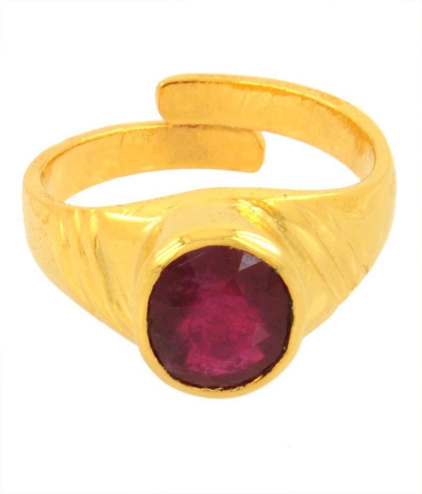 Paduka 6 Ratti Citrine in 5 Dhathu Ruby Gemstone Ring