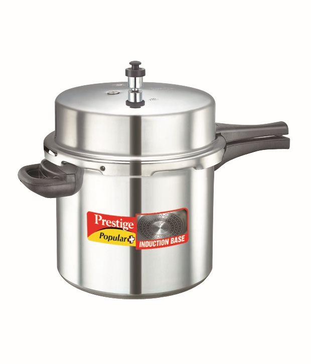 Prestige Popular Plus 12 LTR Outer Lid - Aluminium Pressure Cooker-Induction Stovetop Compatible