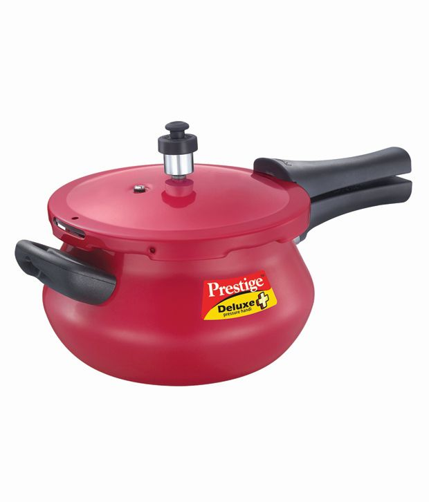 Prestige Deluxe Plus Mini Junior Handi Aluminium 3.3 L Pressure Cooker (Induction Bottom, Outer Lid)
