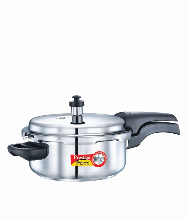 3e44afac9b7 Prestige Deluxe Alpha Stainless Steel ISI Marked Pressure Cooker 3 L with  Induction Bottom  Buy Online at Best Price in India - Snapdeal