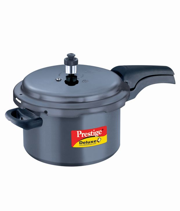 bdc768daa11 Prestige Deluxe Plus 5 Ltr Hard anodised Outer Lid Pressure Cooker  Buy  Online at Best Price in India - Snapdeal