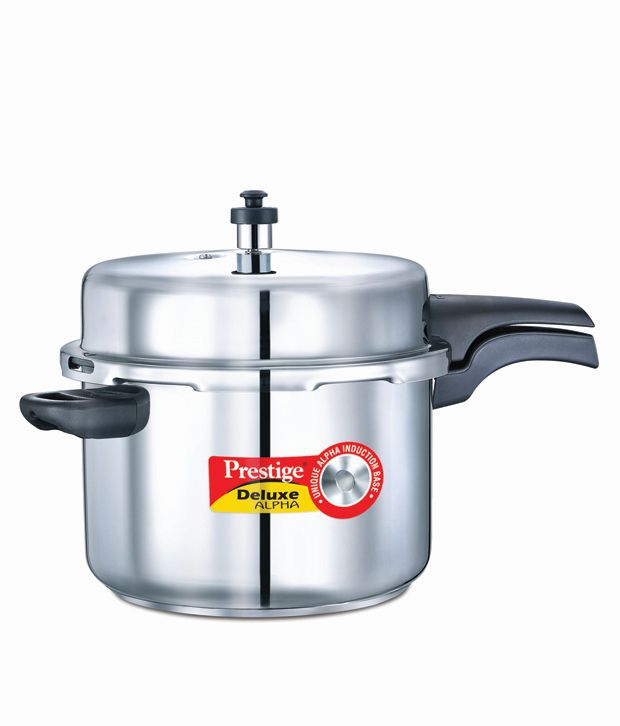 Prestige Deluxe AlpHard Andoized Stainless Steel 8 L Pressure Cooker (Induction Based, Outer Lid)