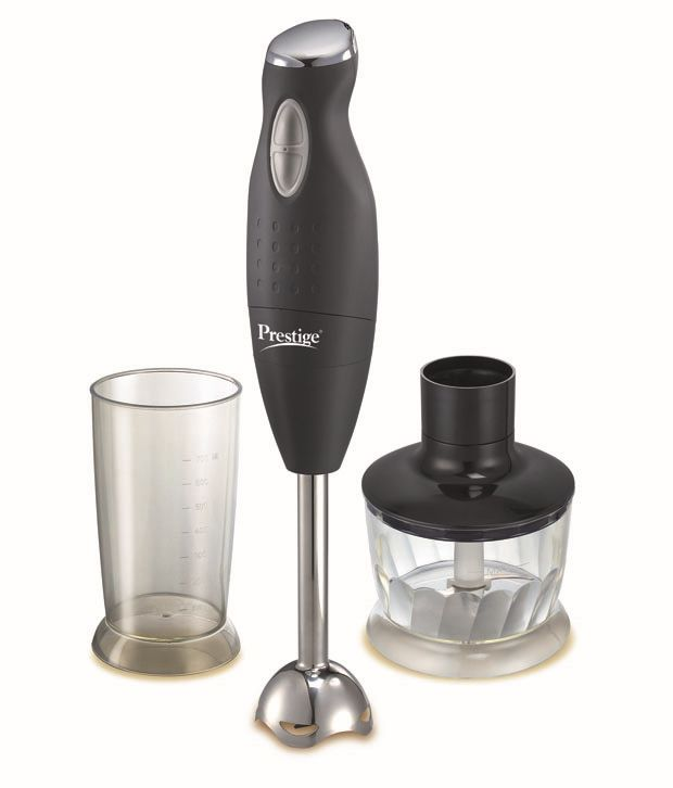 Prestige PHB 6 0 200 Watt 2 Speed Hand Blender with Blending Jar, Chopping,  Whisking Attachment