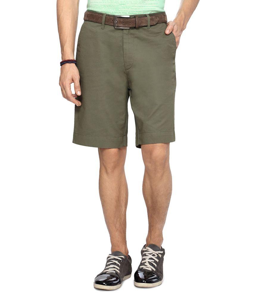 Byford by Pantaloons Green Men's Shorts