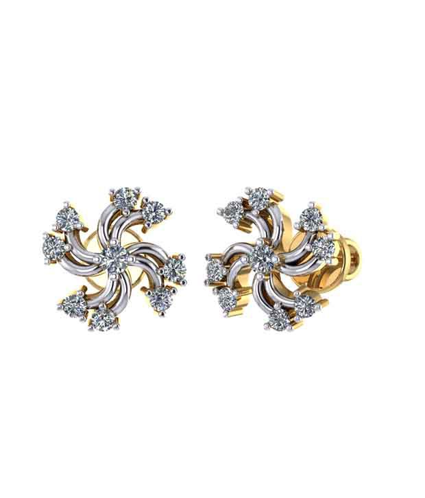 Gehnabox 18kt Gold Traditional Studs Earrings