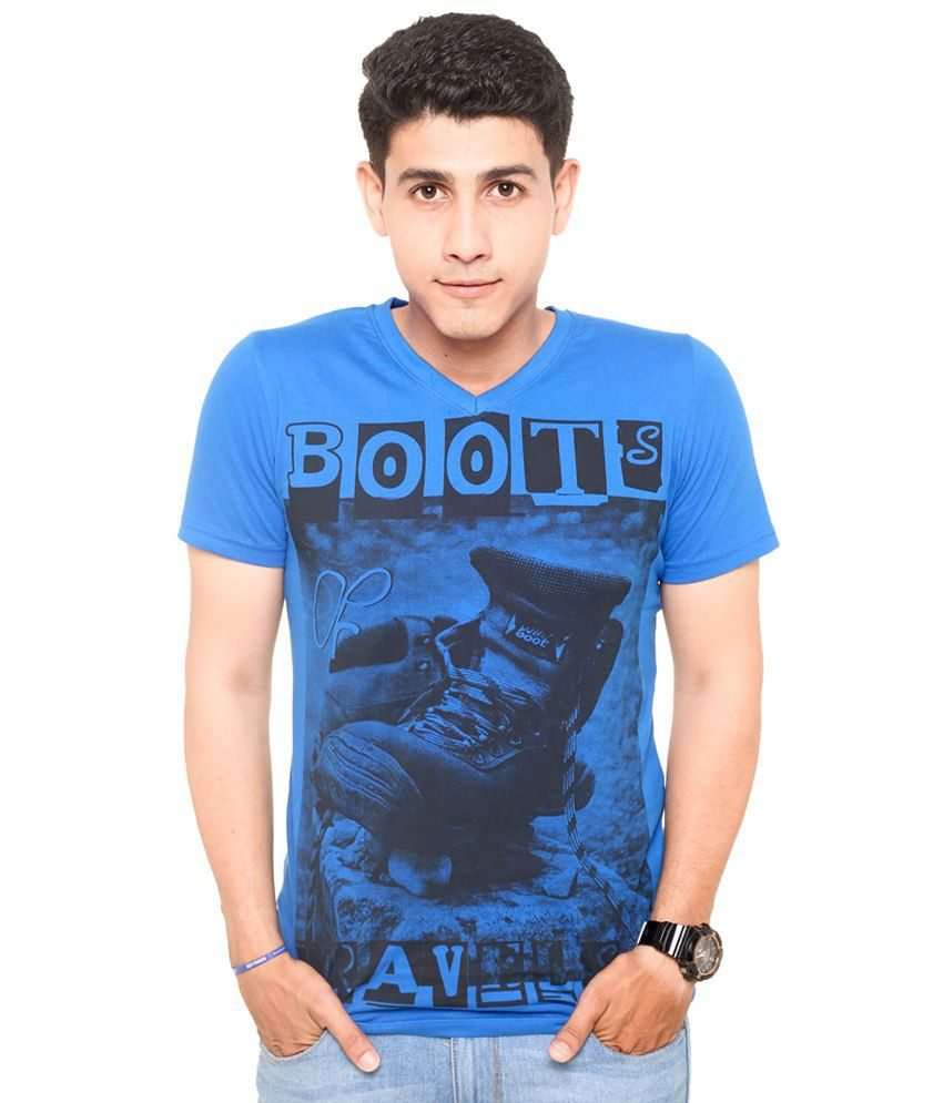 Zwizdot Blue Cotton T Shirt