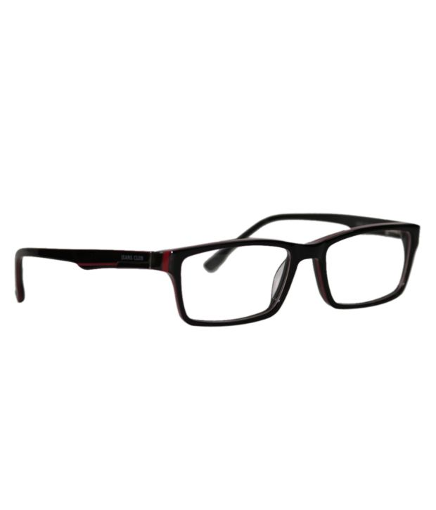 0e1a0191eb Jeans Club Black Non Metal Rectangle Eyeglasses For Men - Buy Jeans Club  Black Non Metal Rectangle Eyeglasses For Men Online at Low Price - Snapdeal