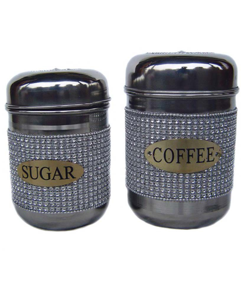 Rastogi Handicrafts Stainless Steel Canisters 2 Pieces