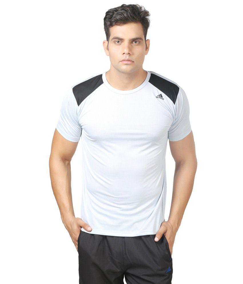 Adidas Gray Polyester T Shirt