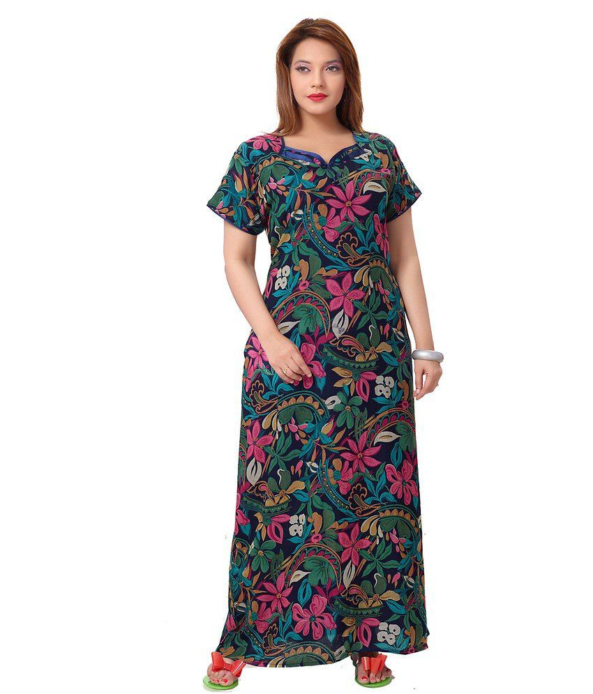 7ff1245013 Buy Eazy Womens Printed Alpine Nightwear Gown Online at Best Prices in  India - Snapdeal
