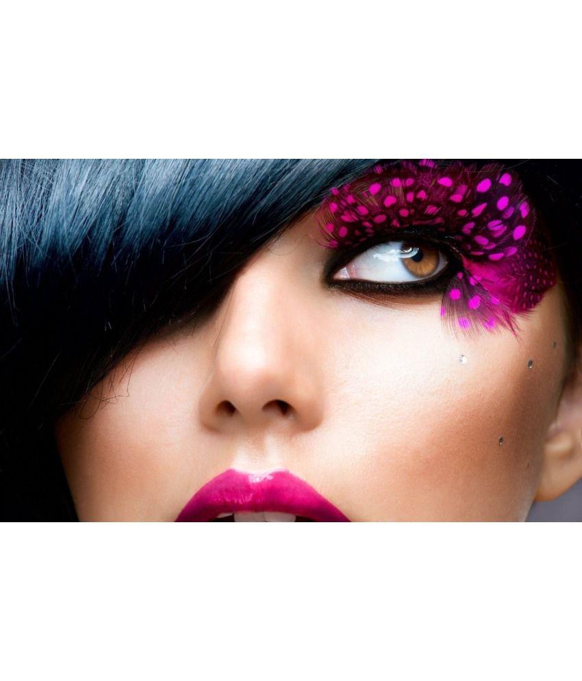Poster4me Matte Beauty Salon Spa Eye Makeup Hair Stylephoto Print Art Poster