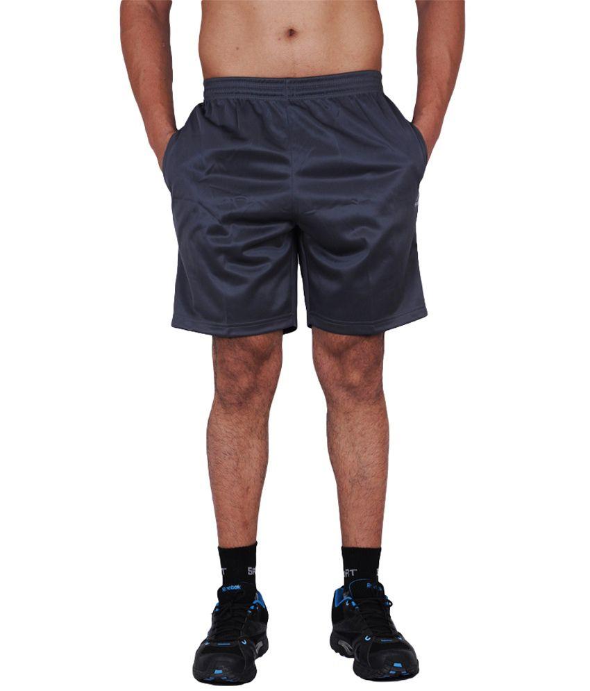 TLH Fino London Easay Sports Shorts With Air Breathability Mesh - Grey