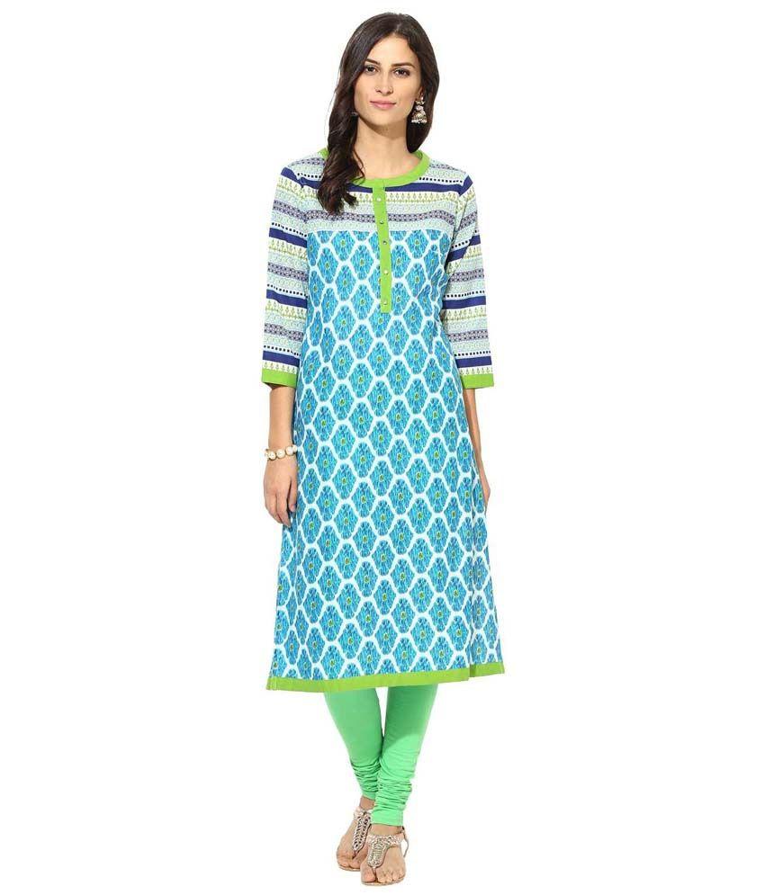 Prakhya Multi Color Cotton Kurti