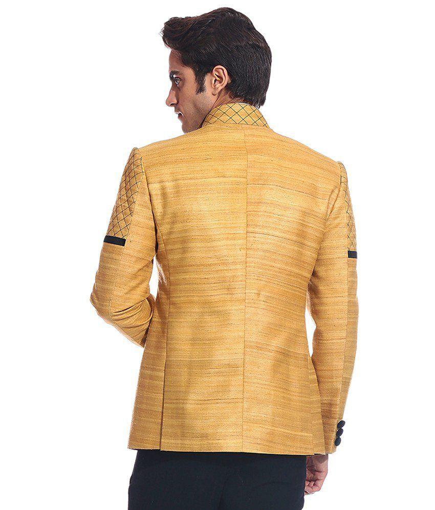 Tag 7 Yellow Linen Blazer For Men - Buy Tag 7 Yellow Linen Blazer ...