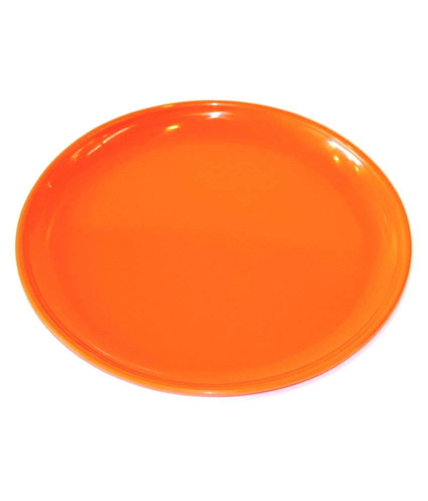 Dolphin Orange Acrylic Dinner Plates - Set Of 6  sc 1 st  Snapdeal & Dolphin Orange Acrylic Dinner Plates - Set Of 6: Buy Online at Best ...