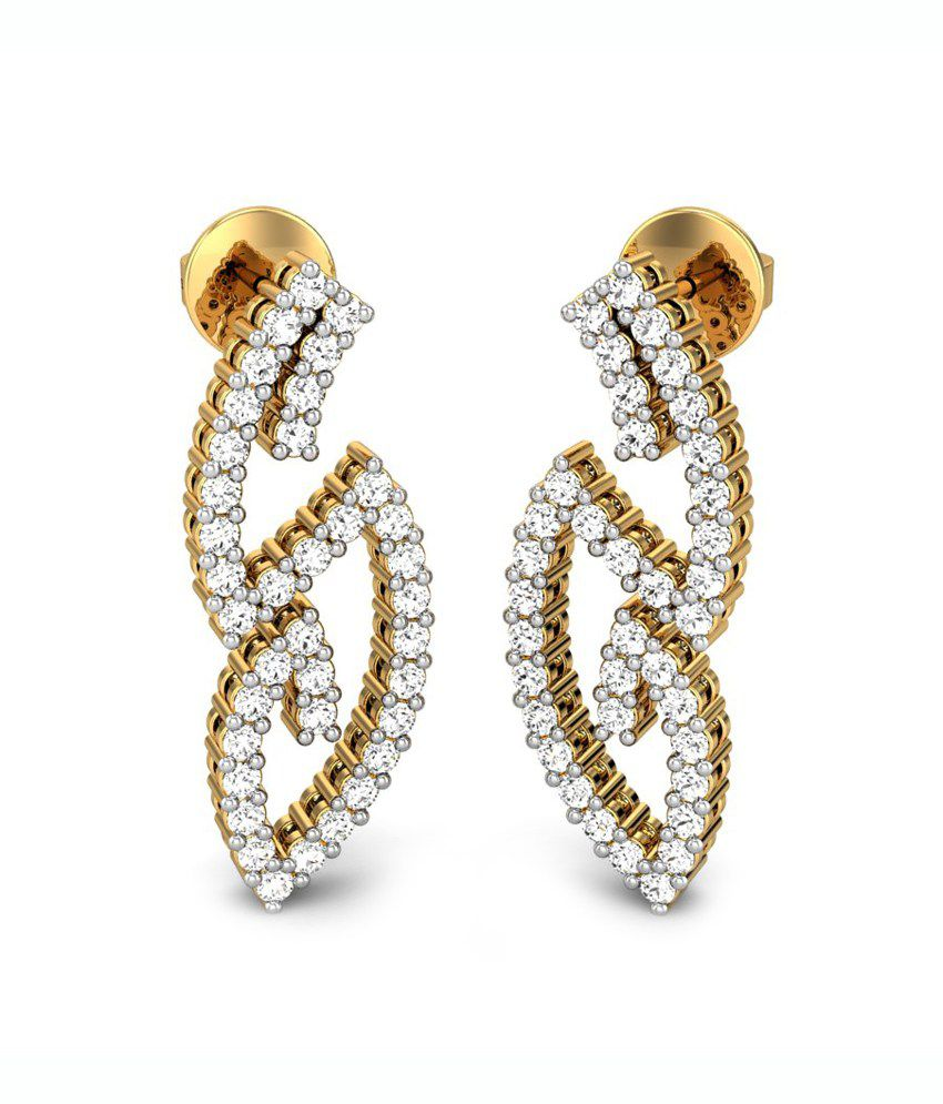 Candere The Spiritual Diamond Earring  Yellow Gold 18K
