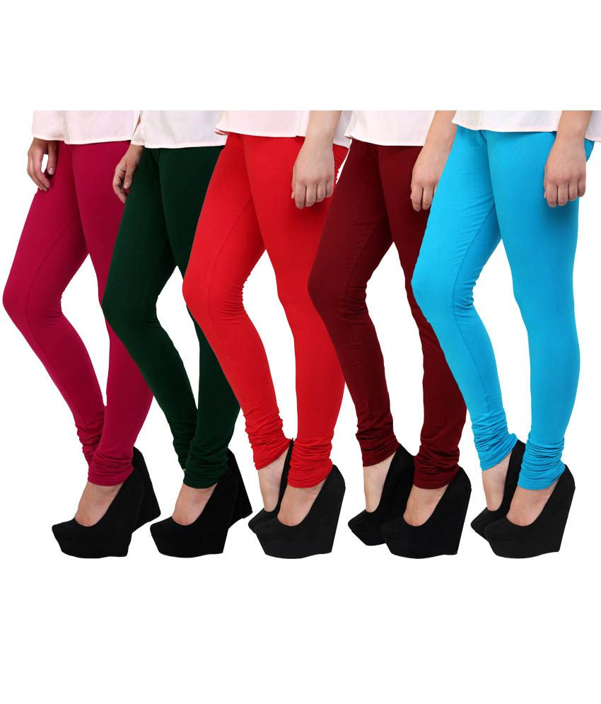 E'hiose Multi Color Cotton Leggings