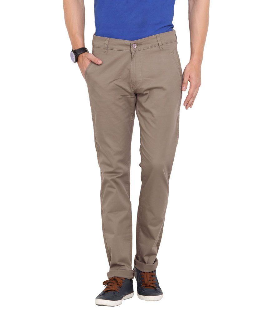 John Pride Gray Cotton Chinos Style Trouser