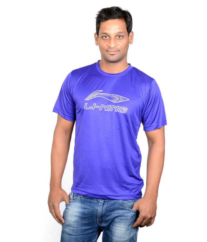 Li-Ning Blue Badminton Dryfit T-shirts