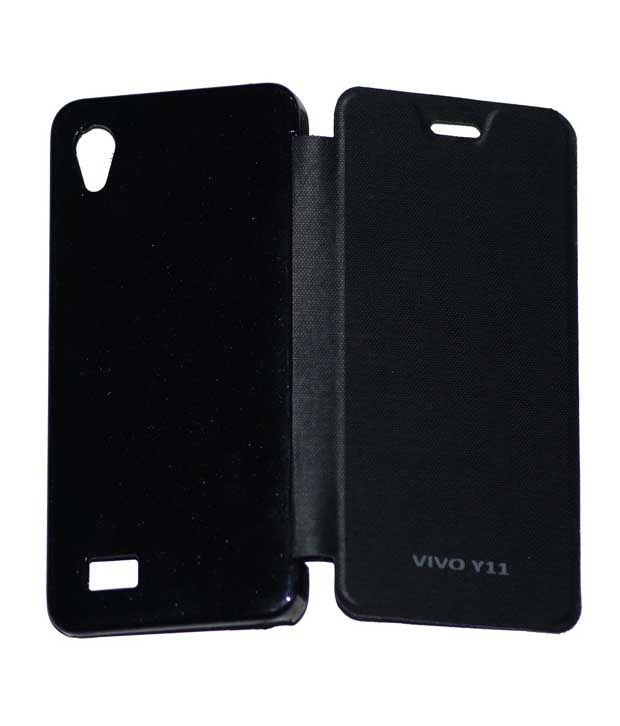 reputable site ab15a bc803 Osr Flip Covers For Vivo Y11 Black