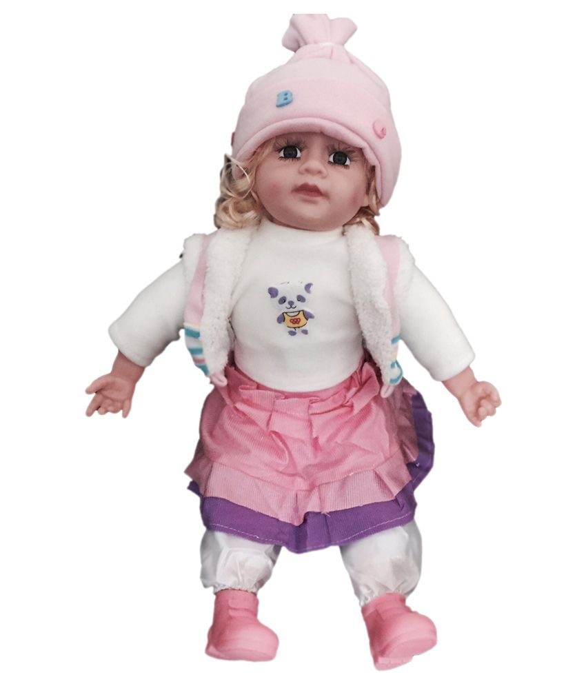 ATC Toys ATC Toys Musical Baby Doll In Pink Winter Jacket