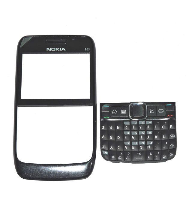 new styles 62ec9 dd772 Nokia E63 Original Front Body Panel 2Pcs - Black - Plain Back Covers ...