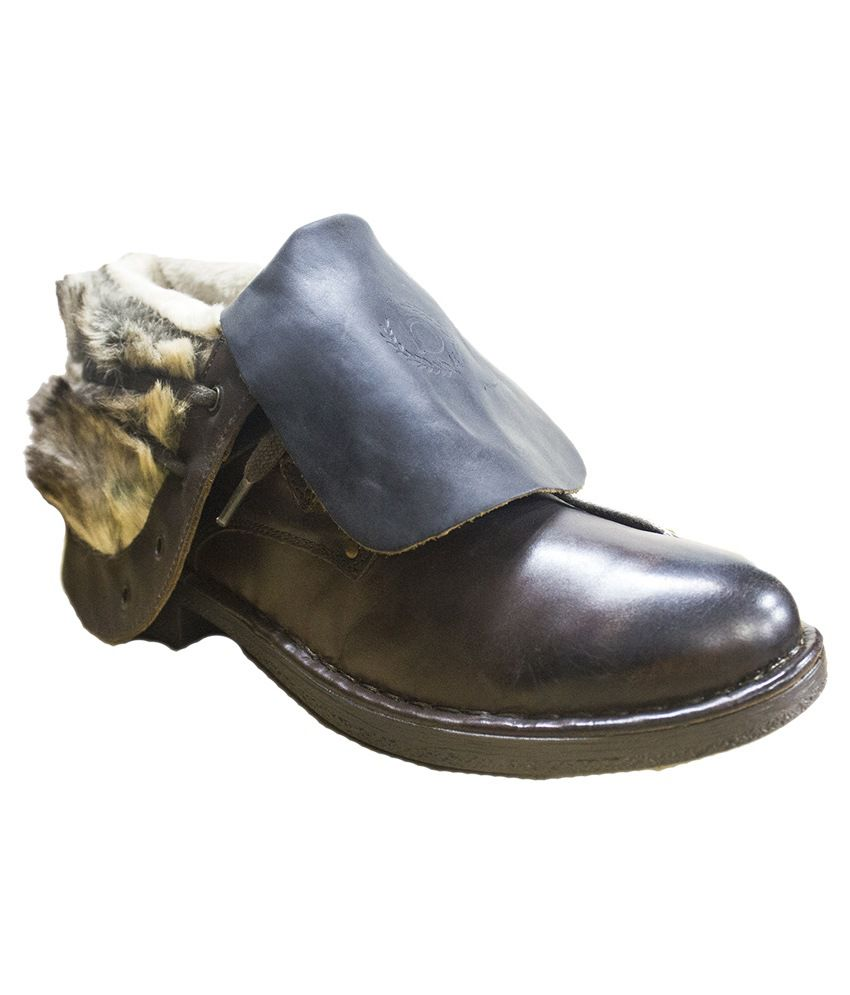 SS Collections Brown Leather Dress Boots