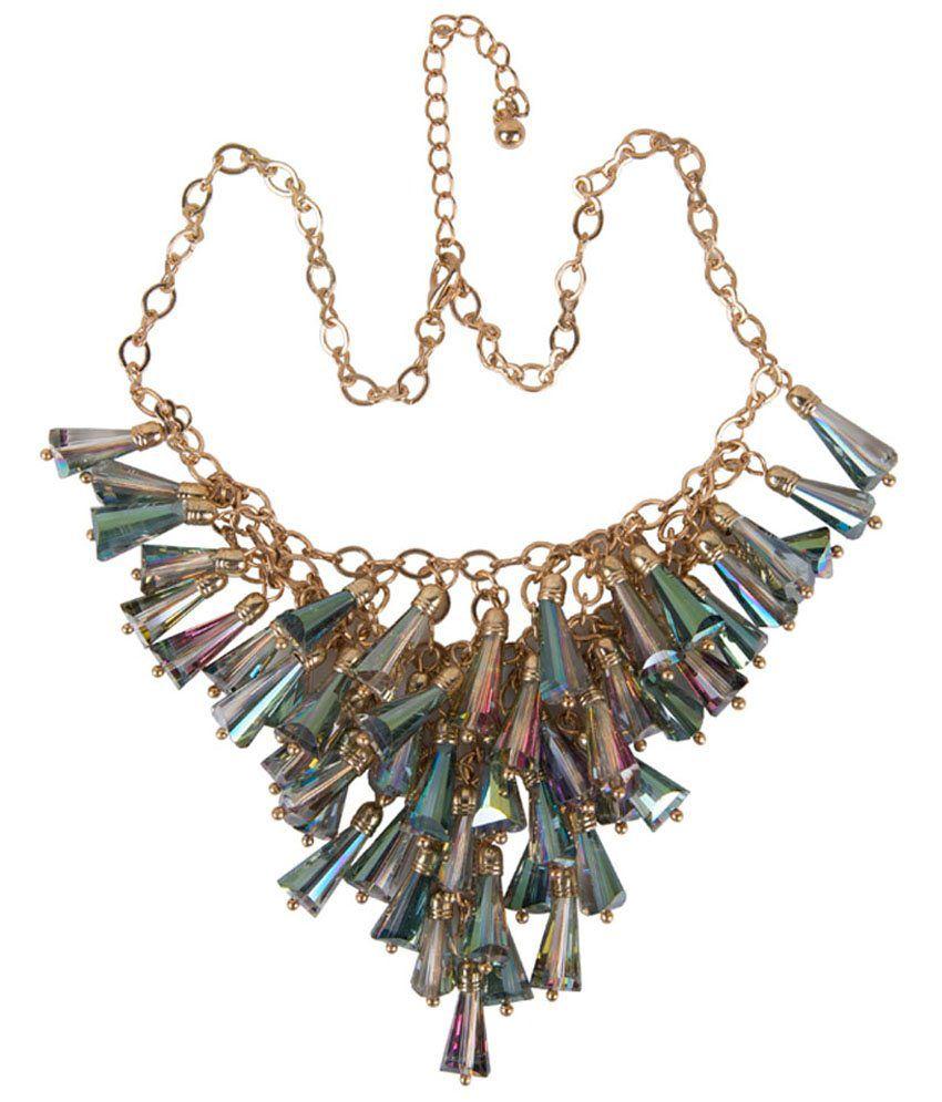 Taj Pearl Multicolour Alloy Necklace