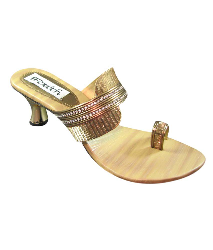 Faith GoldenRod Faux Leather Toe Ring Back Open Resin sheet Sandals