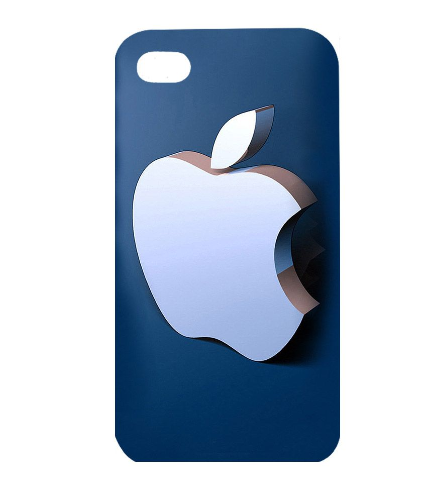Instyler 3D Back Cover for Apple iPhone 4 - Blue