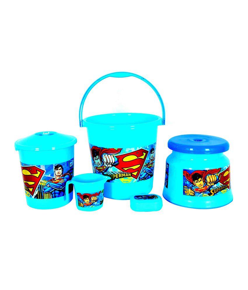 SKI Blue Superman Bathroom Set