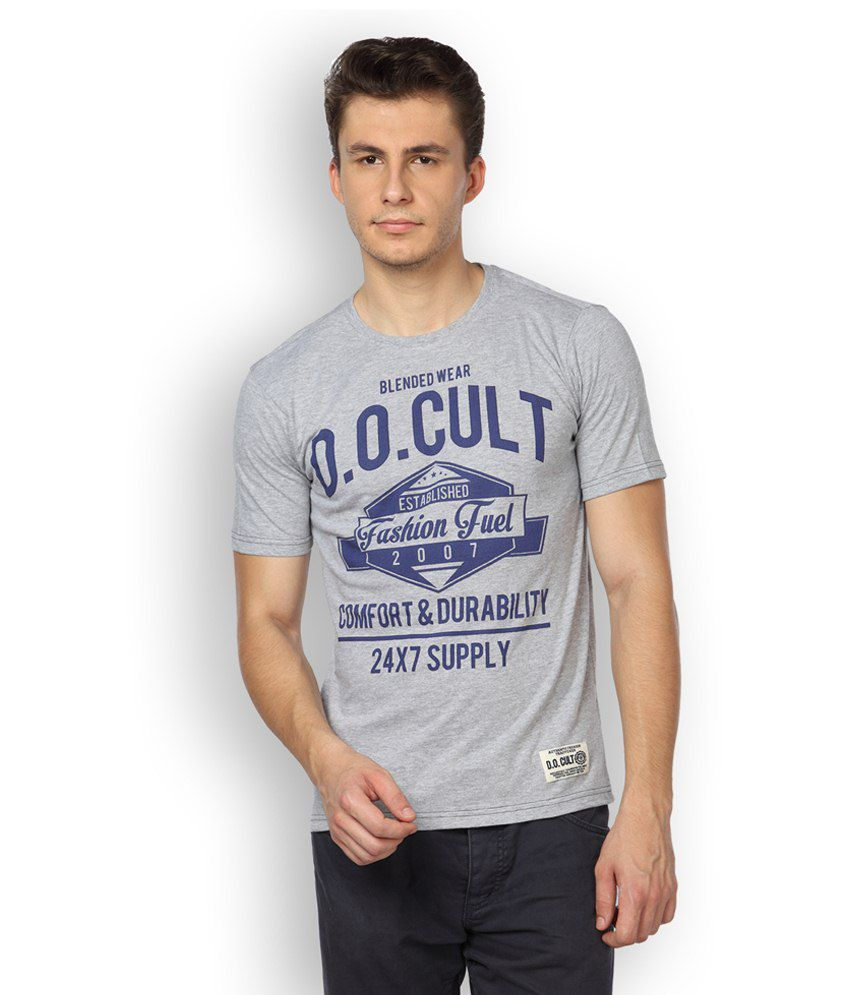 Difference Of Opinion Gray Cotton T Shirt