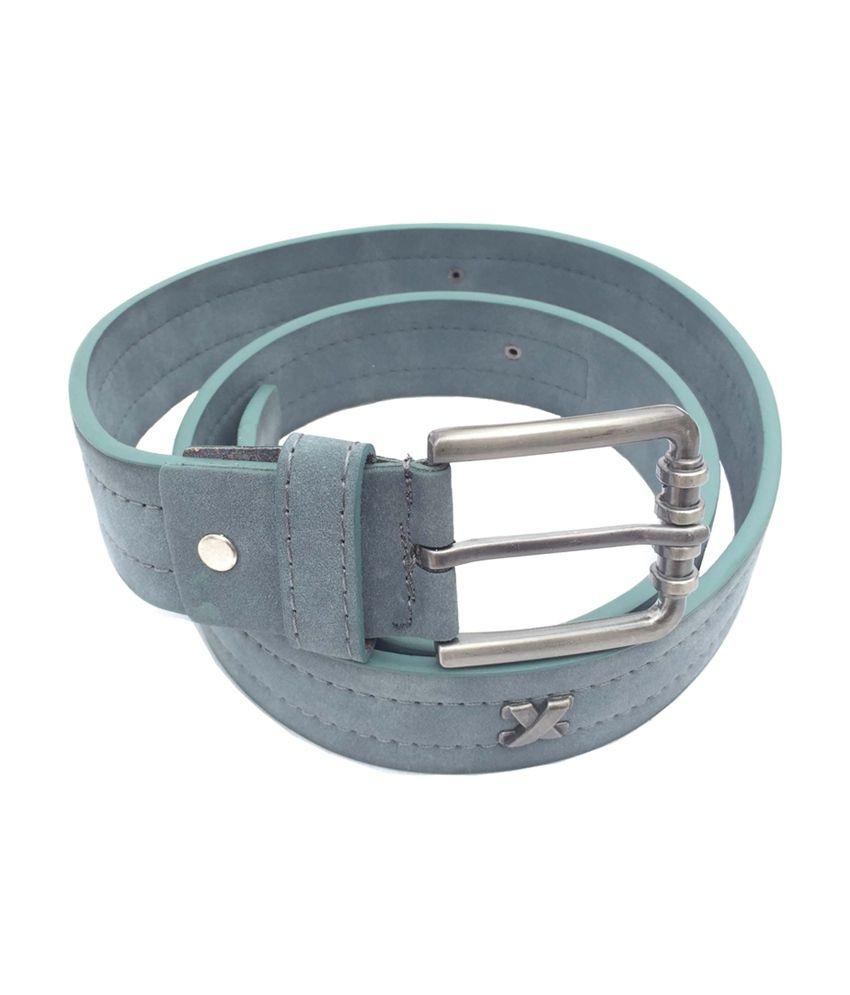Euro Grey Leather Belt for Men